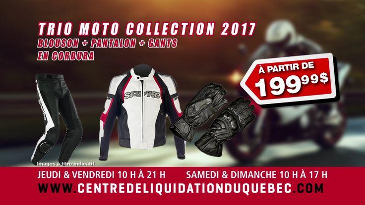Promotions Triomoto (Bottes de moto, pantalon de moto et paire de gants)