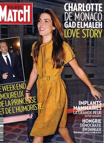 PARIS MATCH N°3269 12 JANVIER 2012 CHARLOTTE CASIRAGHI ET GAD ELMALEH
