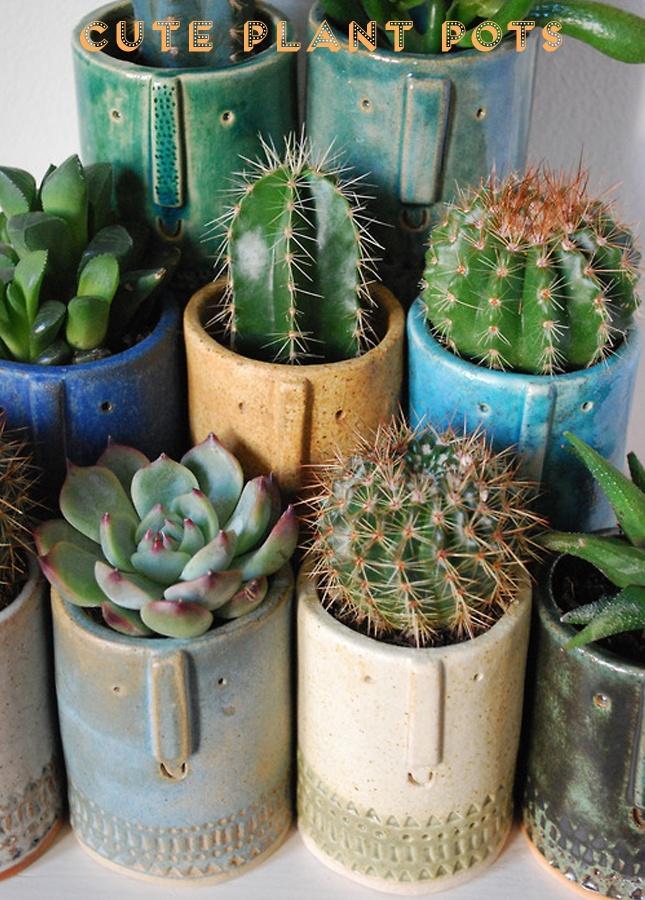 Succulent pots by Atelier Stella