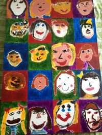 Wahoo!  First Grade Self Portraits went for $1600 at the school auction!!!