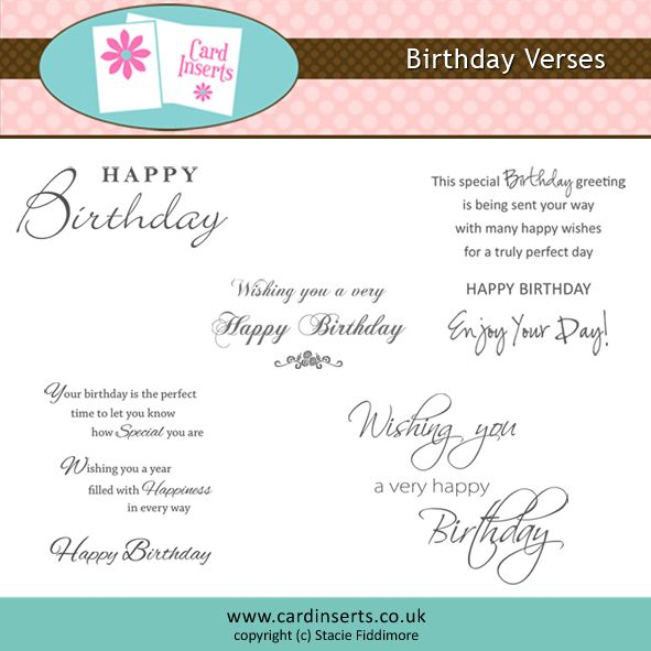 103 best sentimentsverses images – Birthday Card Sentiments