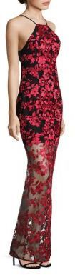 ABS Lace Halter Gown on sale $156 Saks Fifth Avenue