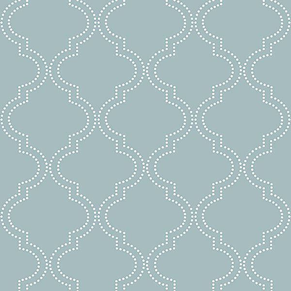 Slate Blue Quatrefoil Peel And Stick Wallpaper