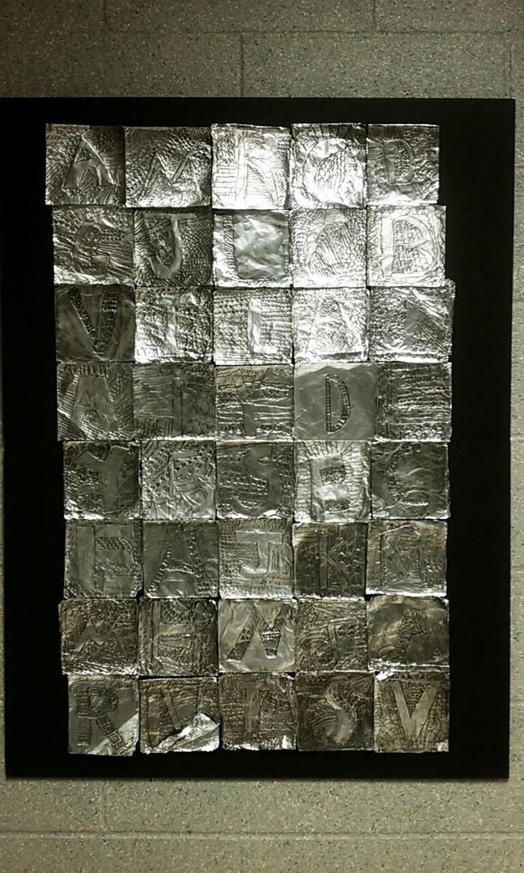 Jasper Johns with foil