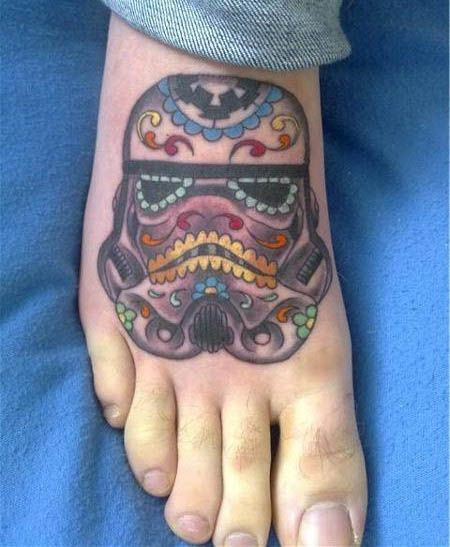 See your tattoo ideas visualised on your body. www.mynext-tattoo... stormtrooper sugar skull