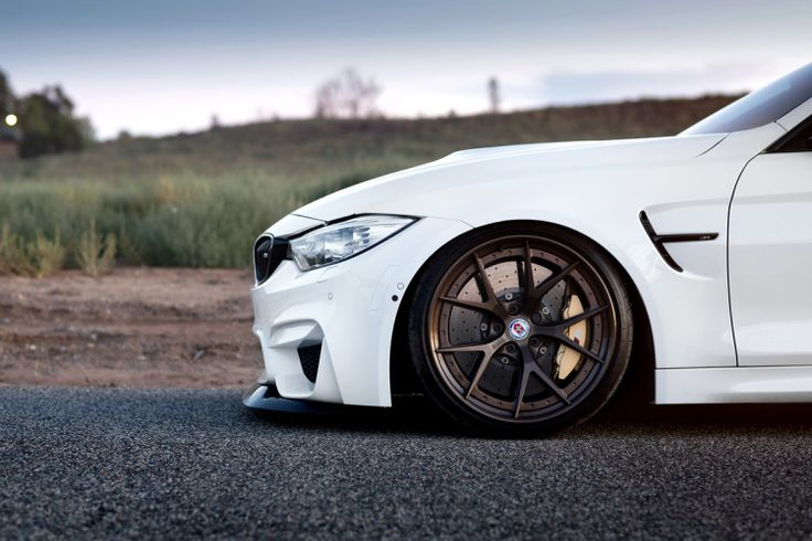 Alpine White BMW M4 with HRE S101 Wheels in Satin Bronze