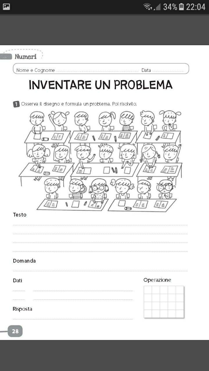 Problema (con immagini) | Matematica elementari, Schede di ...