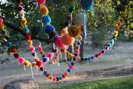 pom pom garland - Google Search