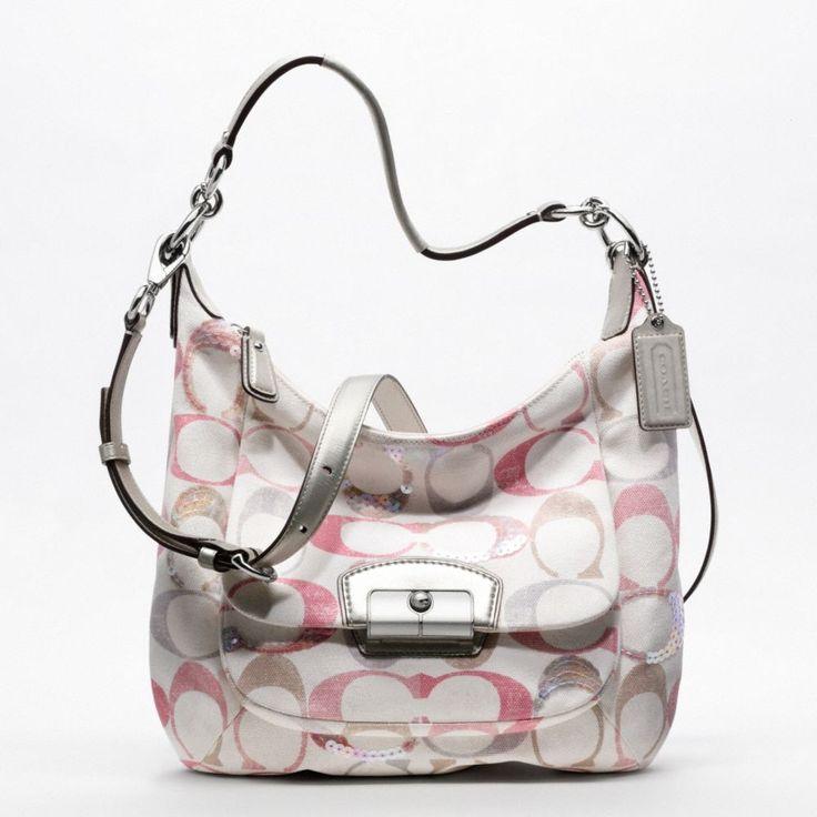 cute coach purse: Kristin Embellishments, Embellishments Signatur, Handbags Pur, Coach Bags, Summer Pur, Summer Bags, Signatur Hobo, Hobo Bags, Pink Coach Purses
