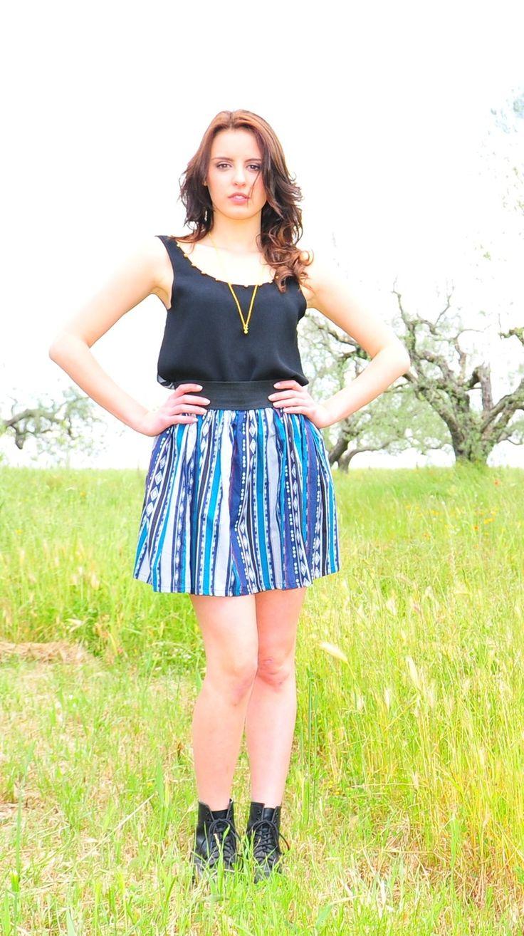 Gonna azteca modello palloncino in cotone : Gonne di before-clothing