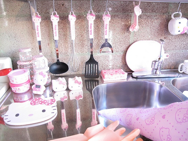 the hello kitty kitchen. needed to get me to cook lol or even want to be in the kitchen. lmao.