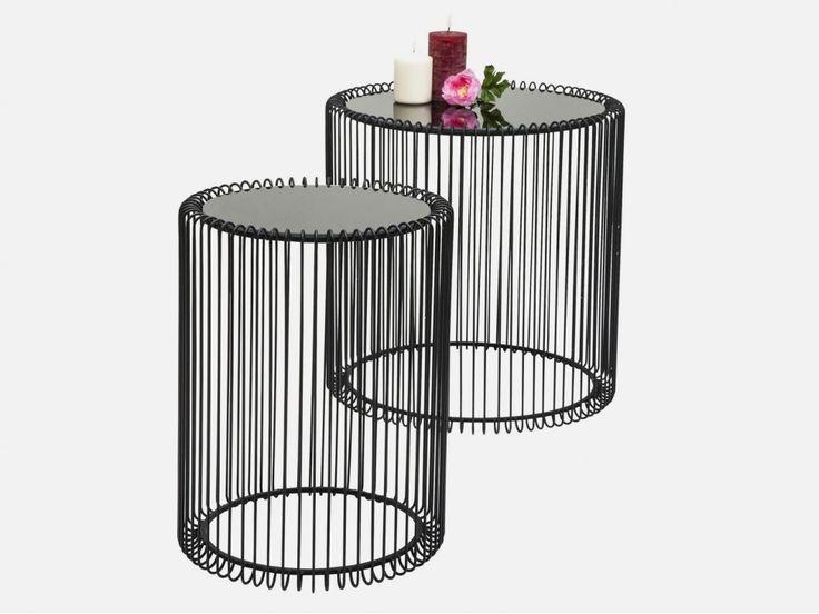 Stolik Kawowy Wire II (2/Set) — Ławy, Stoliki kawowe Kare Design — sfmeble.pl