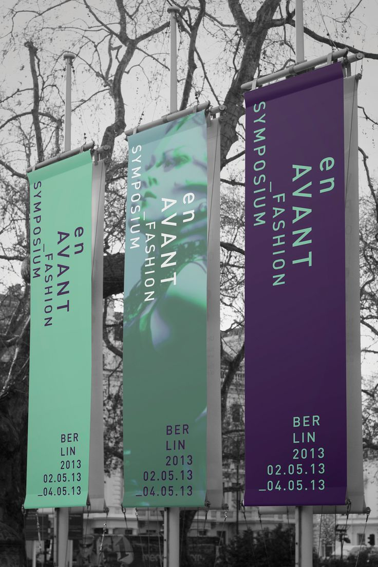 vertical banner instead of horizontal for booth signage.., use the four sided dispaly