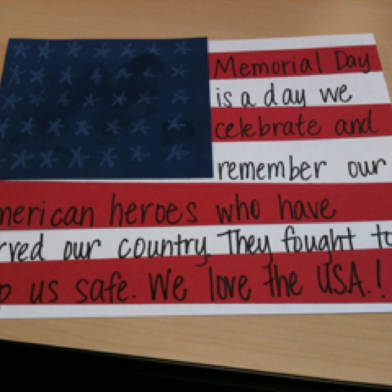 Memorial Day Art Idea
