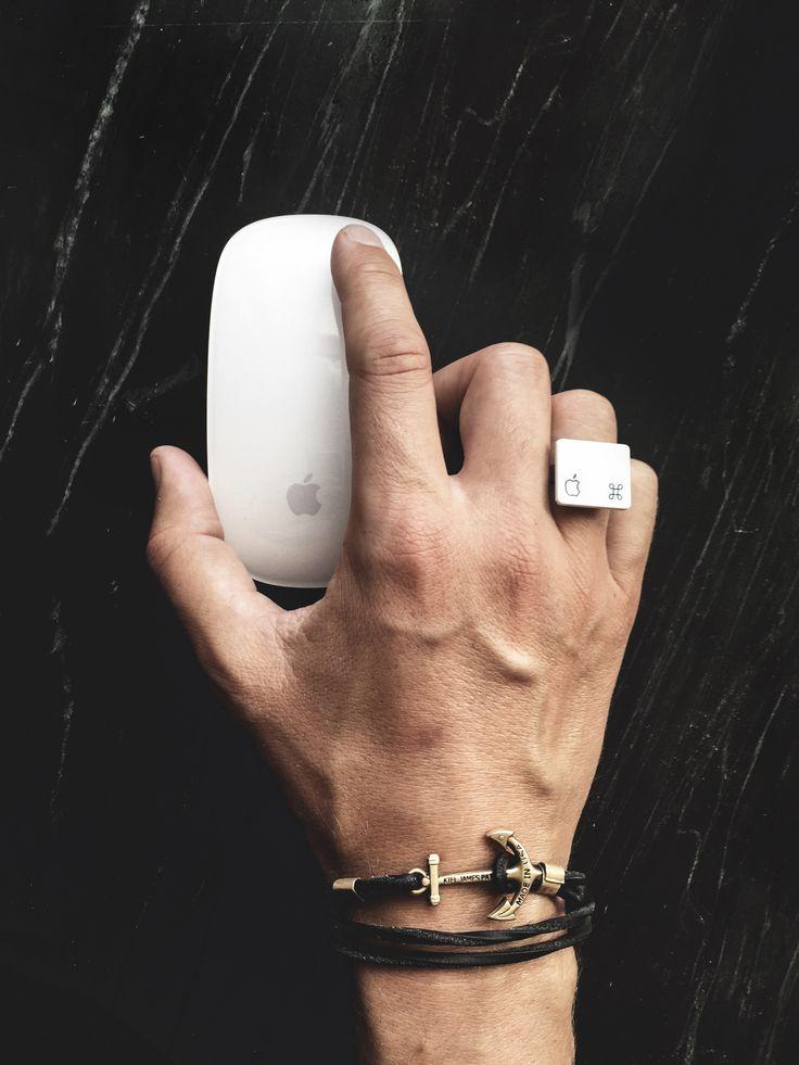 The Apple way. #jewelry #apple #DIY #fashion #love