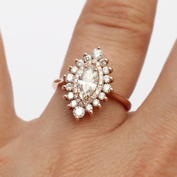 Marquise cut double halo -heidi gibson designs... Umm woah! Is all I got to say..