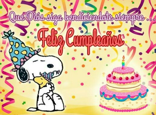 Snoopy Spanish Happy Birthday