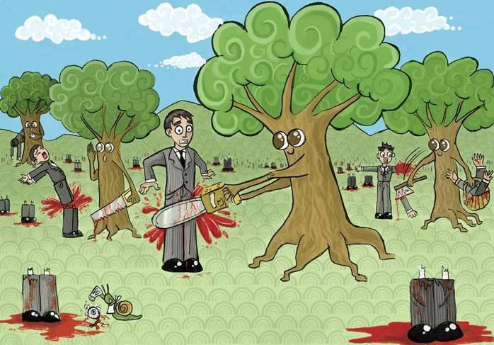 Un mundo paralelo no a la tala de rboles for Tala de arboles madrid
