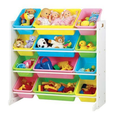 Tot Tutors Toy Organizer Storage Bins, Pastel This Fun And Functional Wood  Organizer Stores Loads Of Childrenu0027s Toys In Easy To See, Easy To Access  Plastic ...