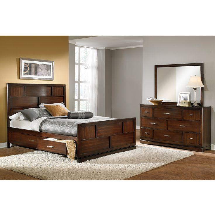 Claremont Bedroom 5 Pc  King Storage Bedroom   Furniture com