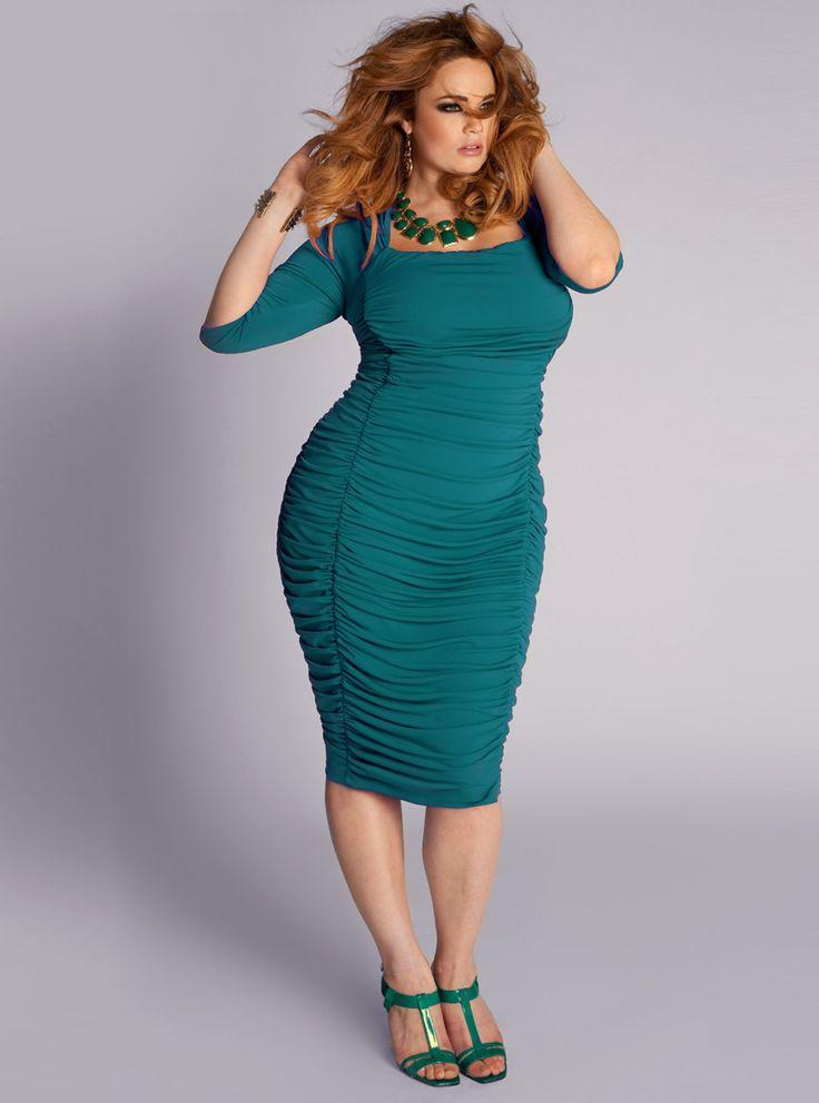 IGIGI Plus Size Renata Dress in Jade Green