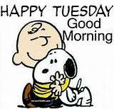 Snoopy Happy Tuesday Good Morning