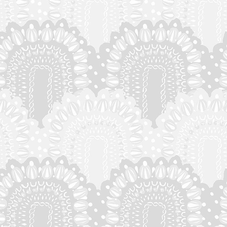 Loviisa whitegrey by Matleena Issakainen - Wallpapers / Tapetit