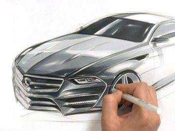 Car drawing marker technique