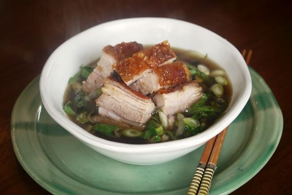 Cripsy #Pork with Pak Choi #recipe by Julie Goodwin