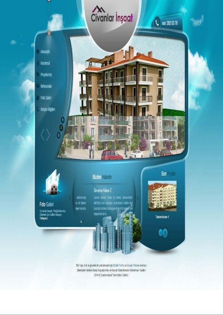 İnşaat Web Sitesi - İnşaat Web Tasarım | Web Tasarım | Web Sitesi Tasarımı | Web Yazılımı