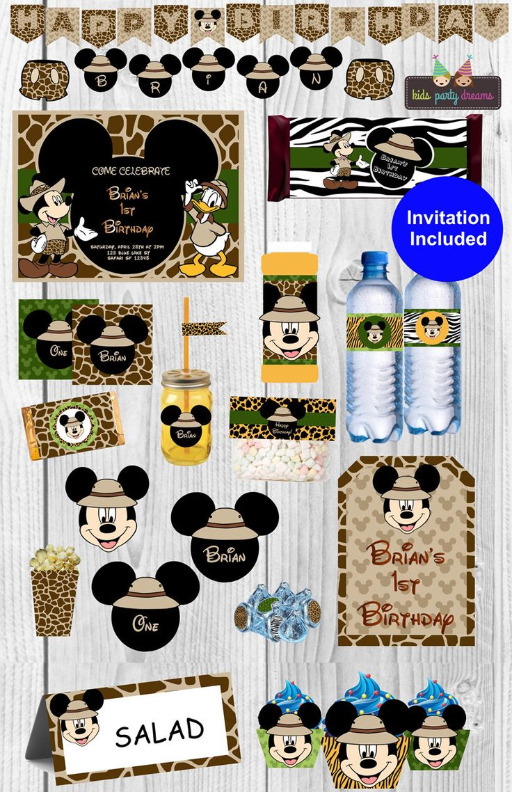 A personal favorite from my Etsy shop https://www.etsy.com/listing/468676483/mickey-safari-party-mickey-mouse