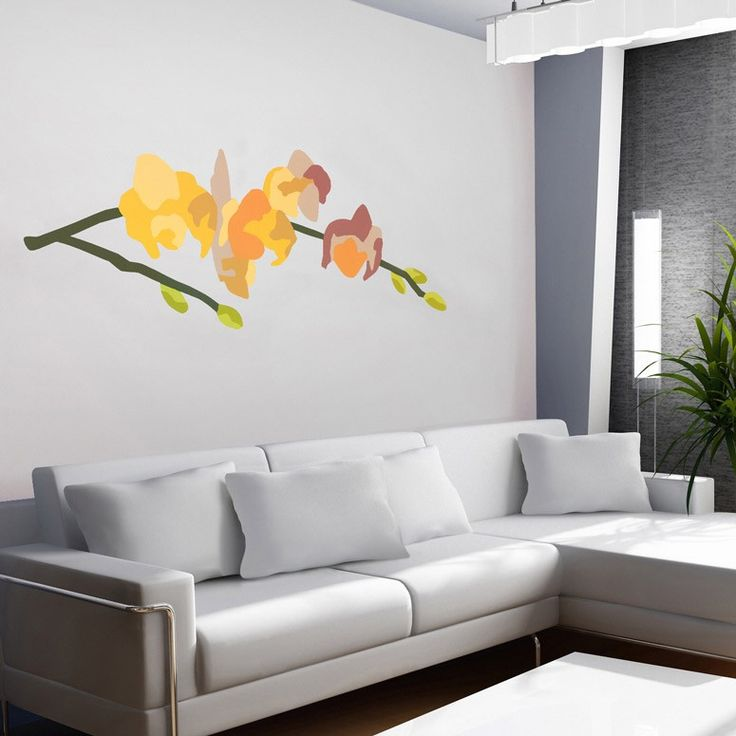 Orchid Arrangement Series  71   Yellow  designer wall decals by Andy Anh Ha. 33 best ideas about Designer Wall Decals on Pinterest   Print