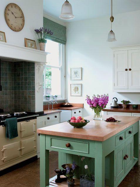 Mint Green, Kitchen Ideas, Kitchen Islands, Dream Kitchens, Kitchen