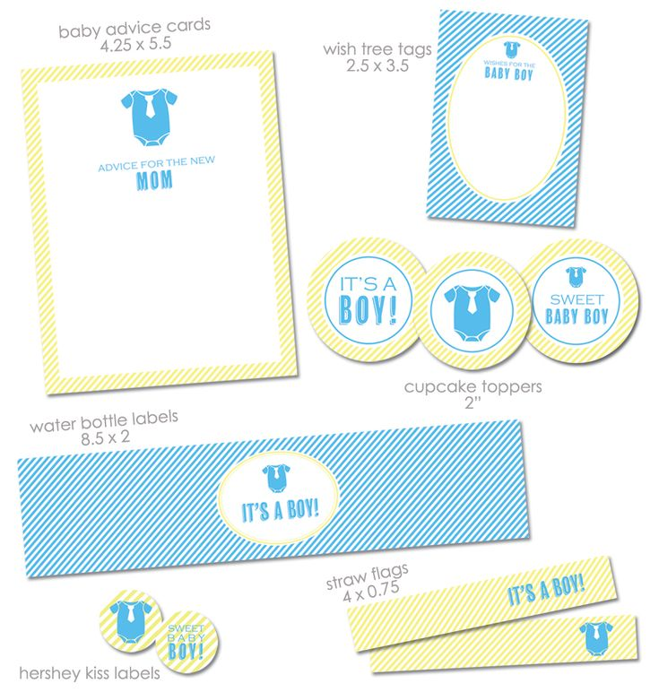 """FREE """"It's a Boy"""" Baby Shower Printables from Green Apple Paperie"""