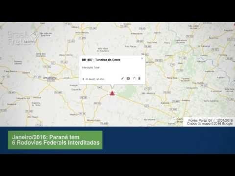 Temporal destrói rodovias no Paraná
