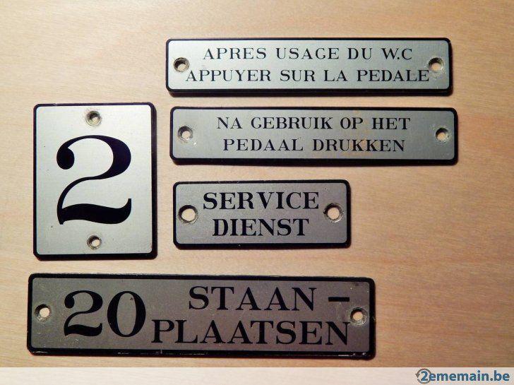 Lot anciennes plaques SNCB train chemin de fer - A vendre