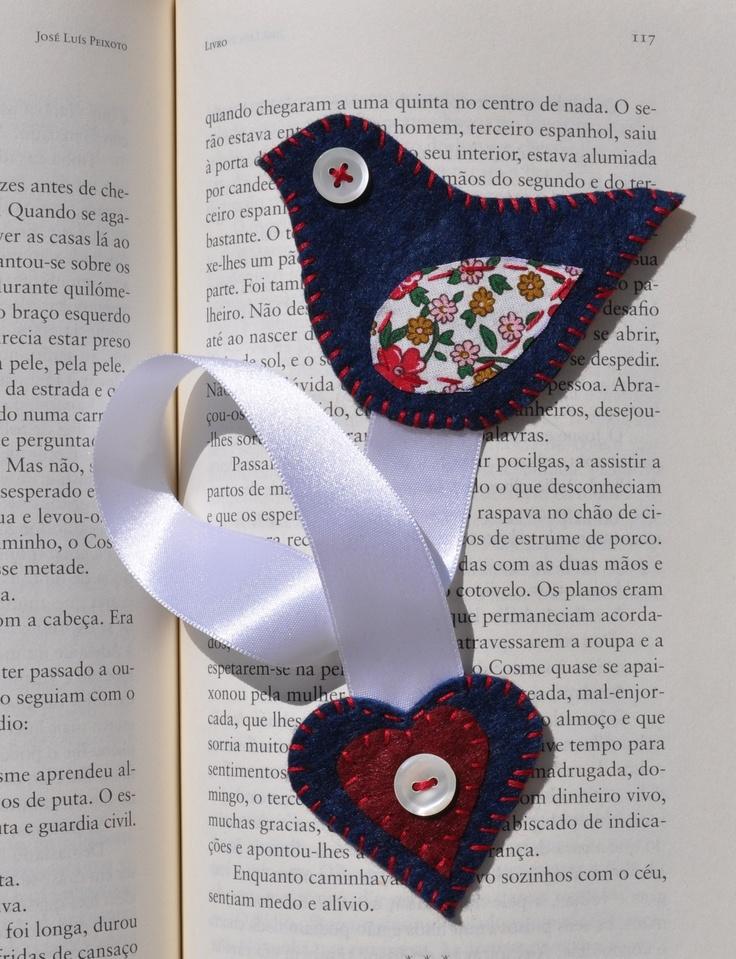 Felt bookmark bird!
