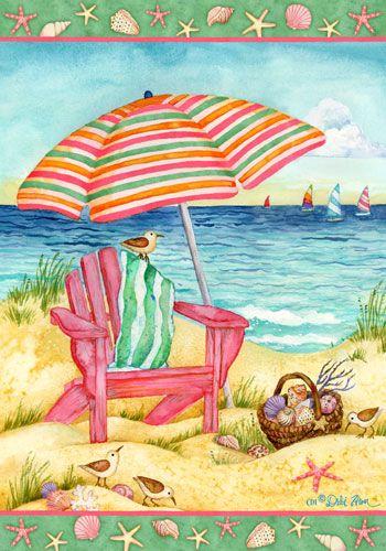 Custom Decor Flag   Beach Chair Decorative Flag At Garden House Flags At  GardenHouseFlags