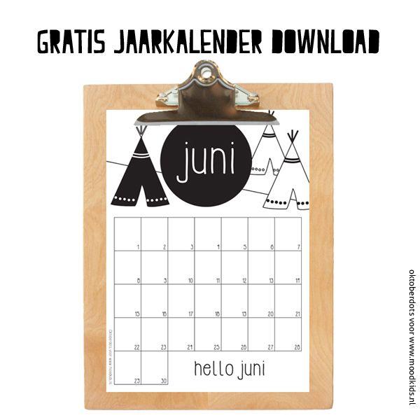 Heb je onze gratis maandkalender A4 formaat al gezien? Elke maand publiceren we een tijdloze maandkalender exclusief gemaakt door OktoberDots.