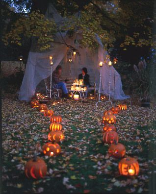 instead of trick or treaters coming to the front door set this up as a trail through the front yard - Halloween Ideas For Yard