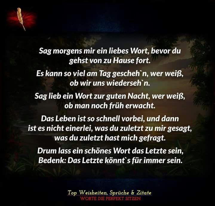 Ein liebes Wort | Sprüche | Pinterest | Story poems, Words ...