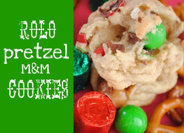 pretzel m amp m cookies meh probably won t ever make again rolo burns ...