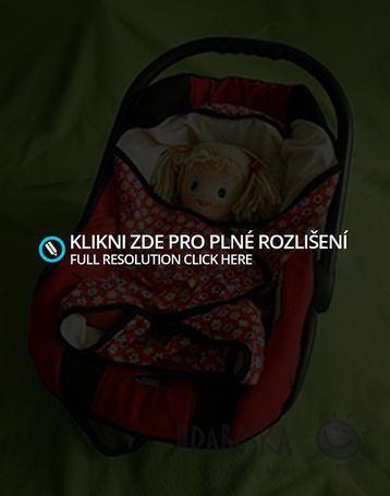 Kytičková dečka do autosedačky | U Hrabošky