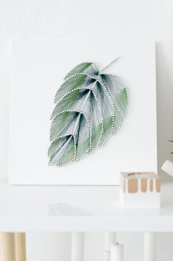 DIY leaf string art