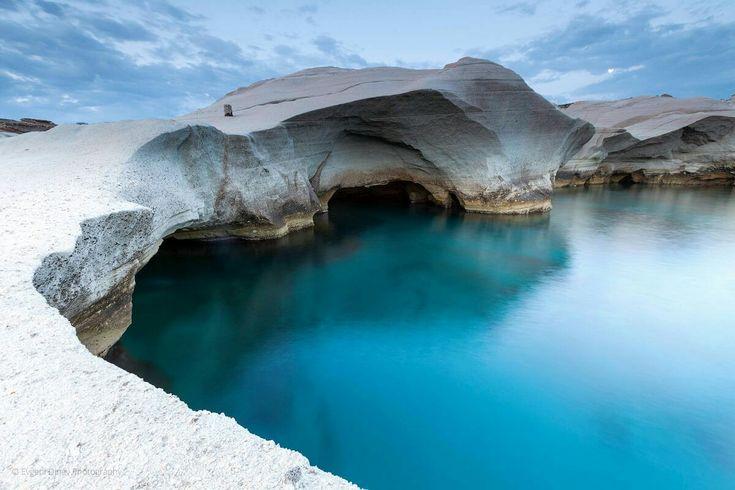 GREEK ISLAND OF MILOS - SEA CAVES