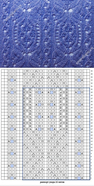 Lace knitting pattern 430 (Aran Lace)