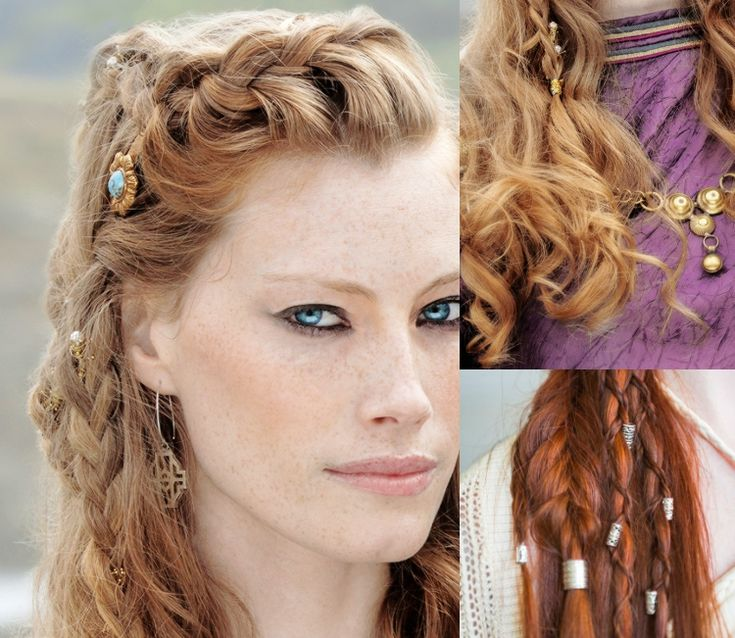 wikinger frisuren frauen zopf opulent königin asloug haarschmuck #frisuren #hairstyle #hair