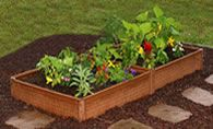 "8"" double raised garden bed kit,  composite recycled plastic, $58"