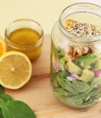 Recette de salade épinard-ananas- Pineapple and spinach salad.