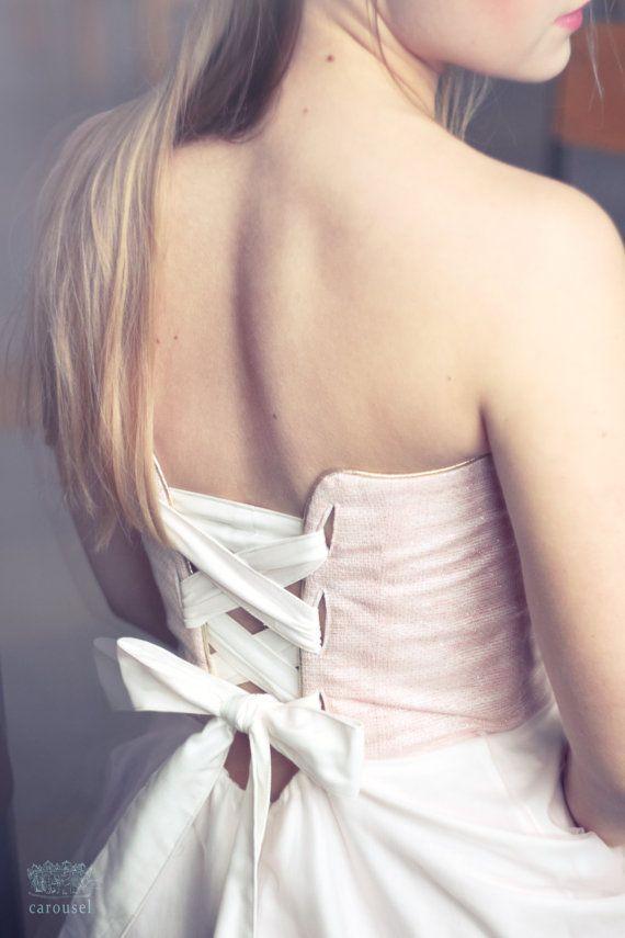 Blush wedding dress // Fleur // 2 pieces by CarouselFashion